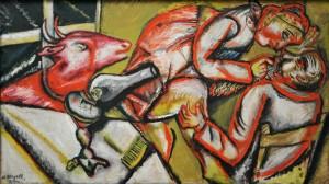 Chagall, Couple with Goat